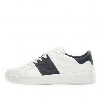 GUESS Verona Stripe Line – White Sneakers With Blue Details For Men