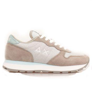 Scarpe Donna Sun68 Sneakers Ally Thin Glitter Grigio Chiaro