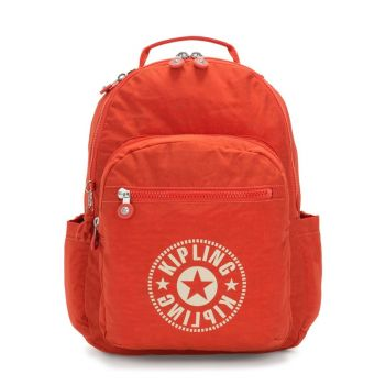 "Zaino Unisex Porta Pc 15,6"" KIPLING Seoul Colore Funky Orange Nc"