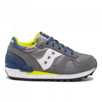 Scarpe Bambino Saucony Sneakers Shadow Original Kids Grey - Lime Green