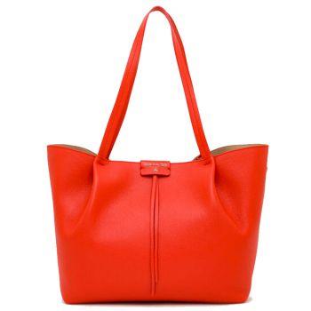 Borsa Donna in Pelle PATRIZIA PEPE Shopping a Spalla 2V8895 Lipstick Red