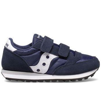 Scarpe Bambino Saucony Sneakers Jazz Double Hook & Look Kids Navy - White
