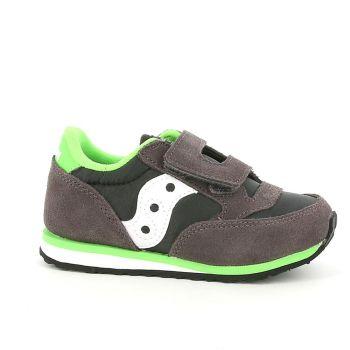 Scarpe Bambino Saucony Baby Jazz HL Grey - Black - Green