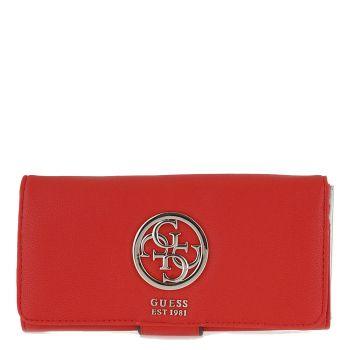 Portafoglio GUESS Rosso Chiuso con Clip Magnetica Linea Tara SLG