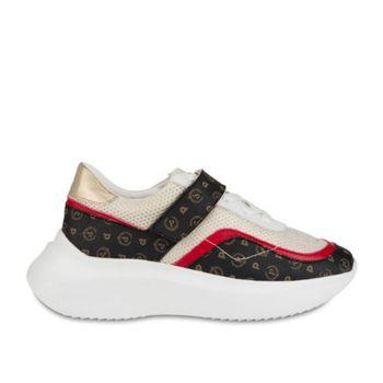 Scarpe Donna POLLINI Sneakers Linea Heritage Bianco con Dettaglio Logato