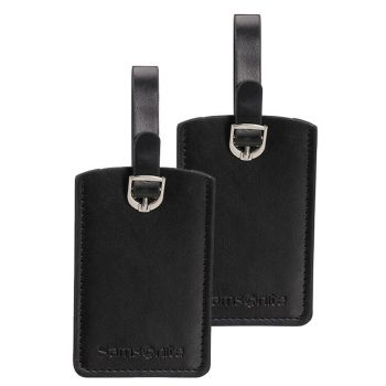 SAMSONITE Travel Accessories-  Black Rectangle Luggage Tag x 2