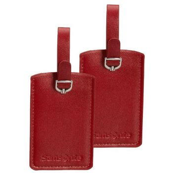 SAMSONITE Travel Accessories-  Red Rectangle Luggage Tag x 2