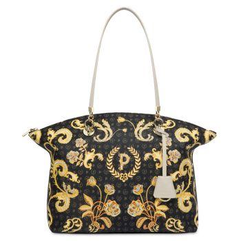 Borsa Donna Shopping POLLINI Linea Heritage Queen For A Day Nero Avorio