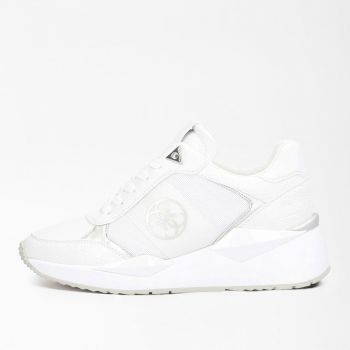 GUESS Tesha Line – White Silver Sneakers