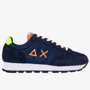 Scarpe Uomo Sun68 Sneakers Tom Fluo Eva Print Navy Blue