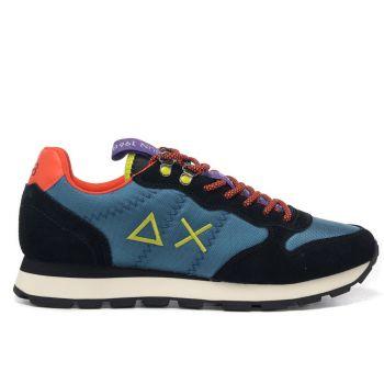 Scarpe Uomo Sun68 Sneakers Tom Goes Camping Colore Ottanio - Nero