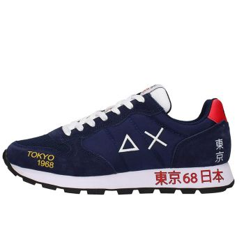 Scarpe Uomo Sun68 Sneakers Tom Japan Print Navy Blue