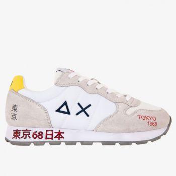 Scarpe Uomo Sun68 Sneakers Tom Japan Print Bianche