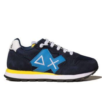 Scarpe Bambino SUN 68 Sneakers Boy's Tom Logo Patch Basic Navy Blue