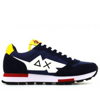 Scarpe Uomo Sun68 Sneakers Tom Solid Multicolor Navy Blue