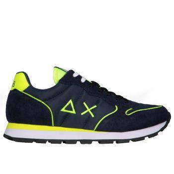 Scarpe Uomo Sun68 Sneakers Tom Nylon Fluo colore Navy Blue