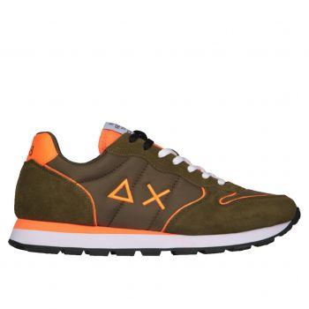 Scarpe Uomo Sun68 Sneakers Tom Nylon Fluo colore Militare
