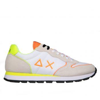 Scarpe Uomo Sun68 Sneakers Tom Nylon Fluo colore Bianco