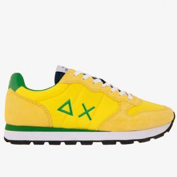 Scarpe Uomo Sun68 Sneakers Tom Solid Nylon Giallo-Verde