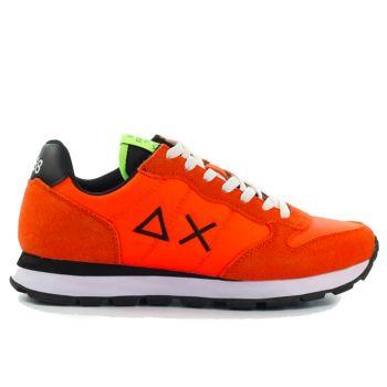 Scarpe Uomo Sun68 Sneakers Tom Solid Nylon colore Arancione Fluo