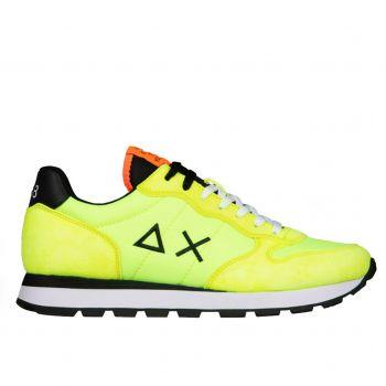 Scarpe Uomo Sun68 Sneakers Tom Solid Nylon colore Giallo Fluo