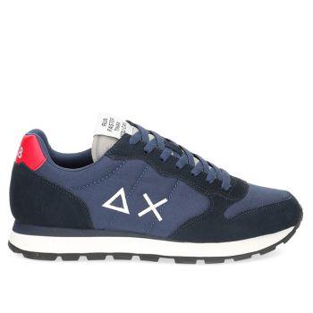 Scarpe Uomo Sun68 Sneakers Tom Solid Nylon Navy Blue - Grigio Chiaro