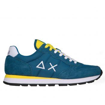 Scarpe Uomo Sun68 Sneakers Tom Solid Nylon colore Ottanio