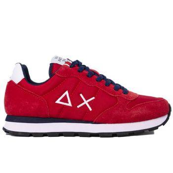 Scarpe Uomo Sun68 Sneakers Tom Solid Nylon colore Rosso