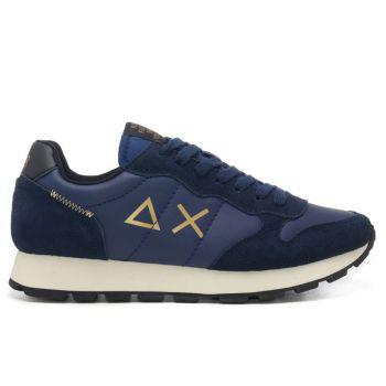 Scarpe Uomo Sun68 Sneakers Tom Suede colore Navy Blue
