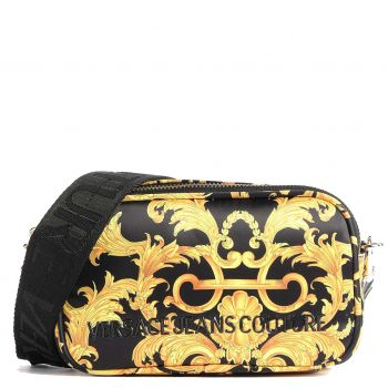 Versace Jeans Couture T Line – Black and Gold Shoulder Bag For Women