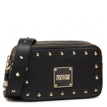 Borsa Donna a Tracolla Versace Jeans Couture con Borchie Applicate Colore Nero
