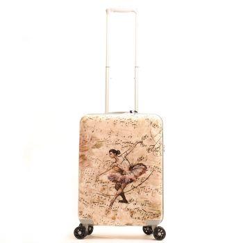 Trolley Grande Y Not Ballet Rose - Valigia 79 cm Rigida 4 Ruote 4,25 kg
