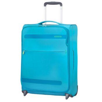 Trolley Cabina 55cm 2 Ruote Ultra Leggero 1,45kg - American Tourister Herolite Mighty Blue