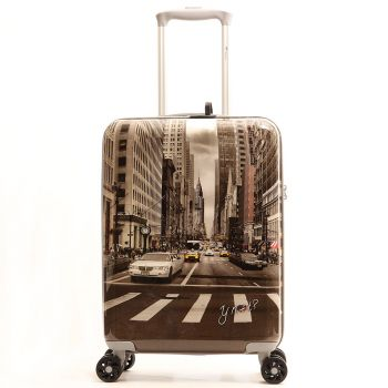 Trolley Cabina Y Not Yes New York Street Style - Valigia 55cm Rigida 4 Ruote 2,5kg
