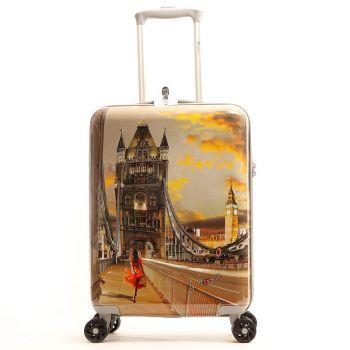 Cabin Trolley Y Not Yes London Tower Bridge - Suitcase 55cm 2.5kg Rigid 4 Wheels