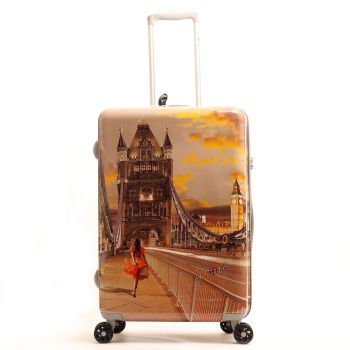 Trolley Medio Y Not London Tower Bridge - Valigia 66 cm Rigida 4 Ruote 3,5 kg