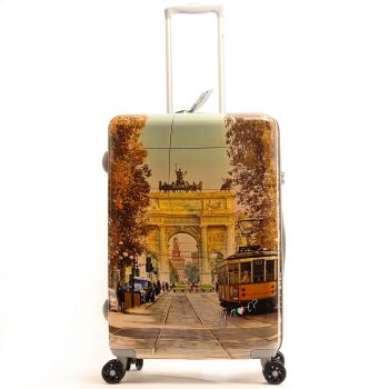 Trolley Medio Y Not Milan Happy Hour - Valigia 66 cm Rigida 4 Ruote 3,5 kg