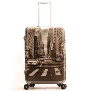 Trolley Medio Y Not New York Street Style - Valigia 66 cm Rigida 4 Ruote 3,5 kg
