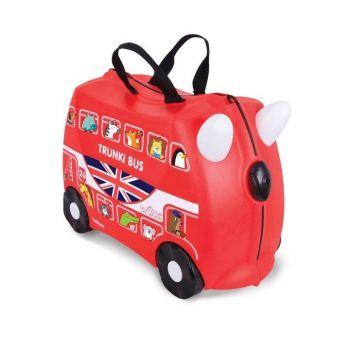 Valigia cavalcabile per Bambini - Trunki Boris London Bus Red