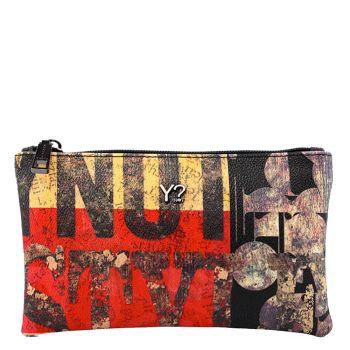 Bustina Donna con zip Y Not Beige/Rossa Linea Underground UND-341