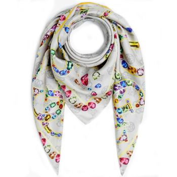Foulard 90 x 90 cm GUESS colore Moonstone Linea Uptown Chic
