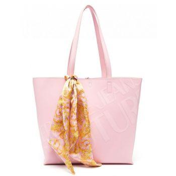 Borsa Donna Versace Jeans Couture Shopping a Spalla colore Rosa