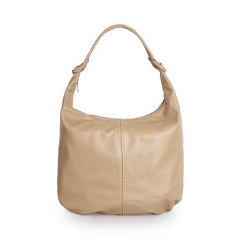 Borsa Donna Hobo a Spalla in Pelle color Nocciola VIAVERDI Made in Italy