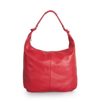 Borsa Donna Hobo a Spalla in Pelle Rossa VIAVERDI Made in Italy