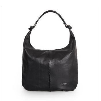 Borsa Donna Hobo a Spalla in Pelle Nera VIAVERDI Made in Italy