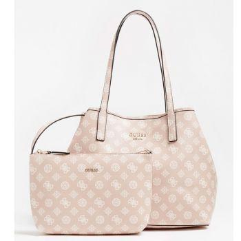 Borsa Shopper a Spalla Donna GUESS Modello Vikky Colore Blush