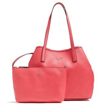 Borsa Shopper a Spalla Donna GUESS Modello Vikky Colore Passion