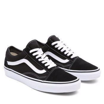 Scarpe Unisex VANS Sneakers Old Skool colore Nero e Bianco