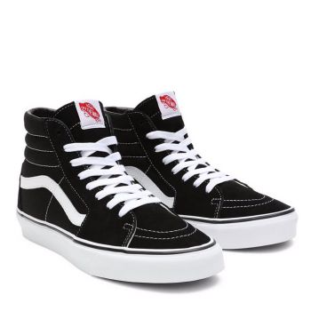 Scarpe Unisex VANS Sneakers Alte Sk8-Hi colore Nero e Bianco