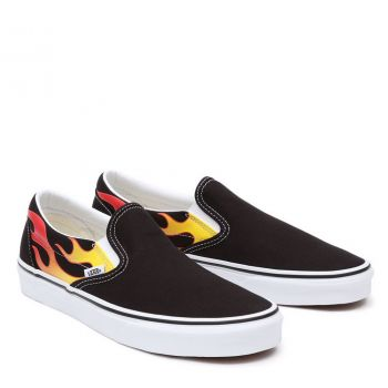 Scarpe Unisex VANS Sneakers Classic Slip-On stampa Flame